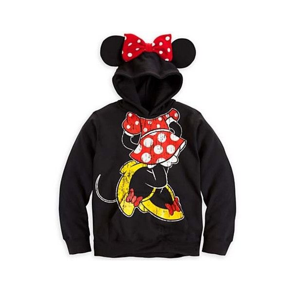 Disney GIRLS Hoodie Minnie Mouse Ear Hoodie for Girls (180 BRL) found on Polyvore