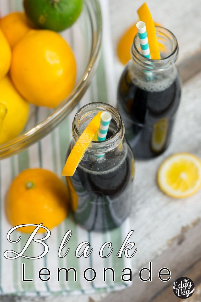 DIY Black Charcoal Lemonade Recipe | Hangover Cure | The Edgy Veg