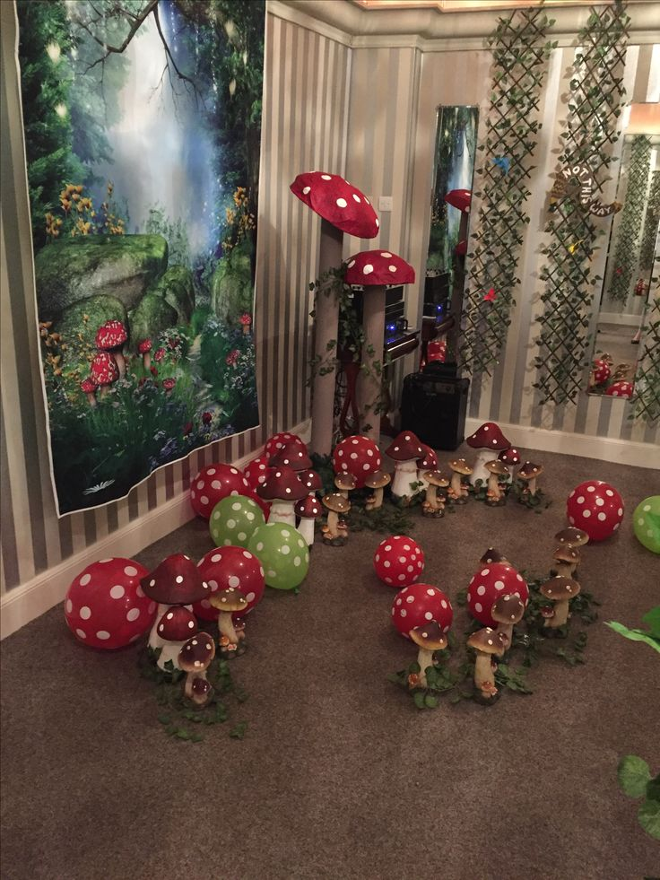 Alice in Wonderland theme enchanted forest in our Warwick Room