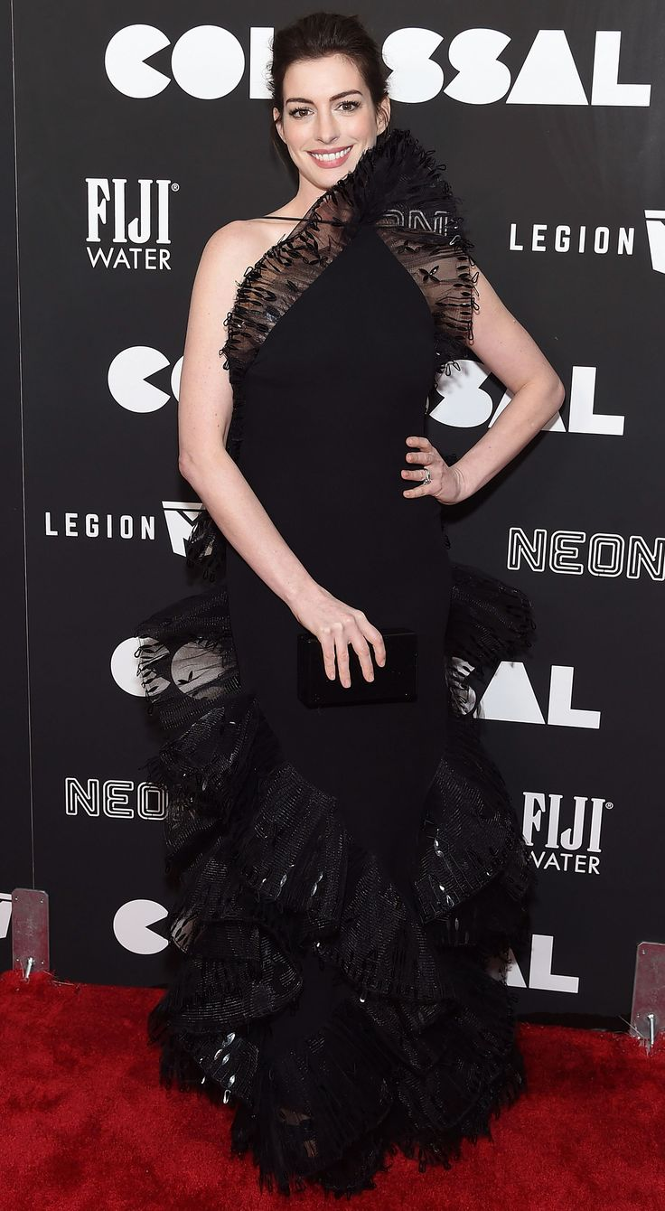 Anne Hathaway Follows in Emma Watson's Fashion Footsteps with Only 'Sustainable' Looks for Colossal Press Tour