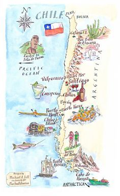 Michael A. Hill - Chile map | PlanSouthAmerica | The Travel Specialists