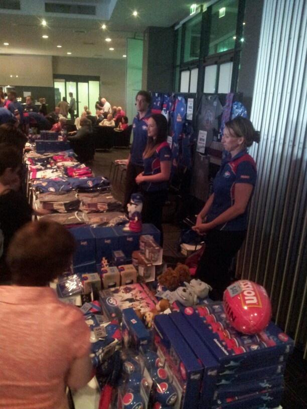 Merchandise on sale at the Social Club Christmas Party 2012 @ Etihad Stadium