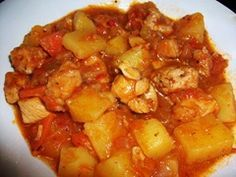 Armando'sPEACE: Pollo guisado picante con papas y zanahorias / Hot...