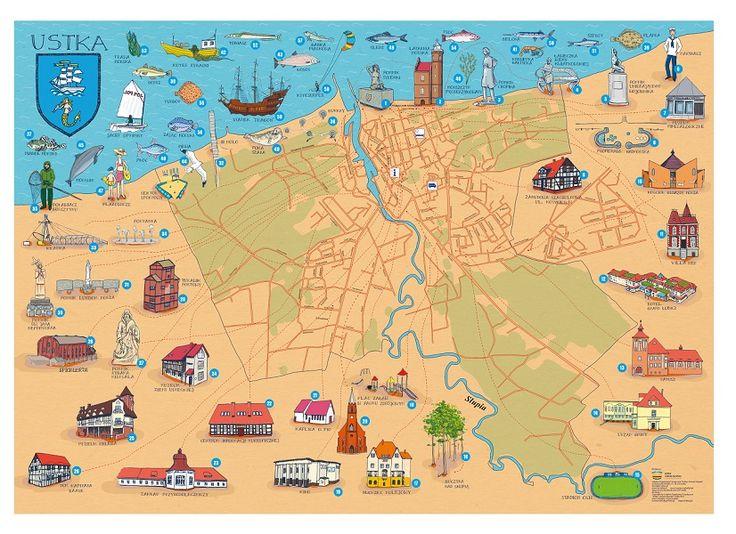 """Mapa Ustki wydana przez LOT """"Ustka i Ziemia Słupska"""" otrzymała I nagrodę w wydawniczym konkursie Pomorskiej Organizacji Turystycznej!"""