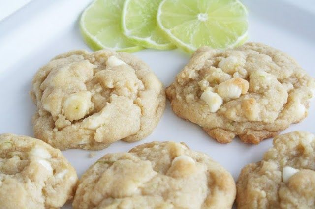 Key Lime Cookies. I used white chocolate chips instead of the vanilla chips and they were still very good.