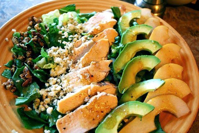 Avocado Pear Salad - My Kitchen Escapades