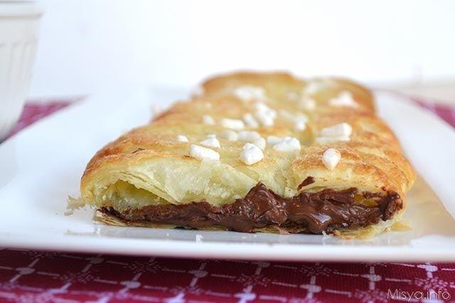» Sfoglia intrecciata al cioccolato Ricette di Misya - Ricetta Sfoglia intrecciata al cioccolato di Misya