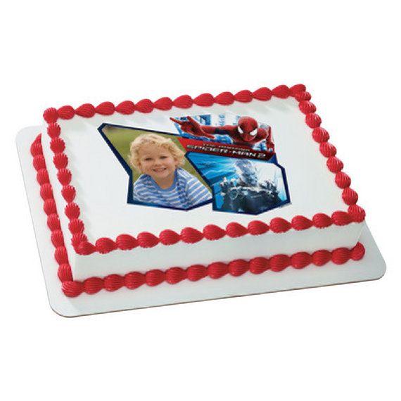 Amazing Spiderman Electro EDIBLE Image Cake by CakesPopsCupcakes, $7.95