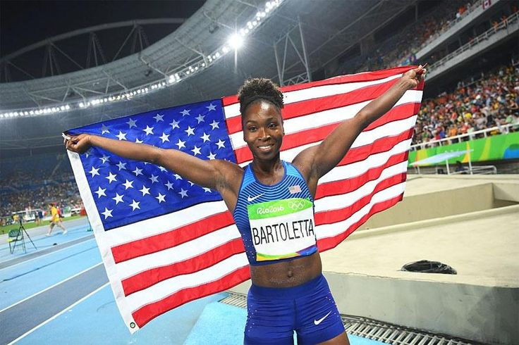 2GOLDS! Rio 2016: USA's Tianna Bartoletta Wins GOLD In Two Different Events: LONG JUMP & 4X100M RELAY!   8/19/16