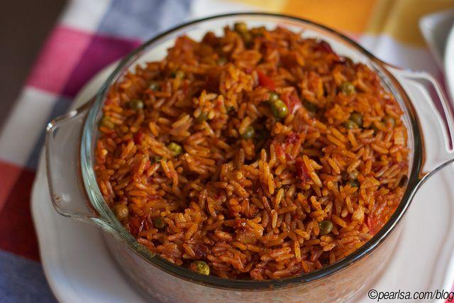 African food, Nigerian food Jollof Rice. Baked Jollof Rice by Pearlsa, via Flickr