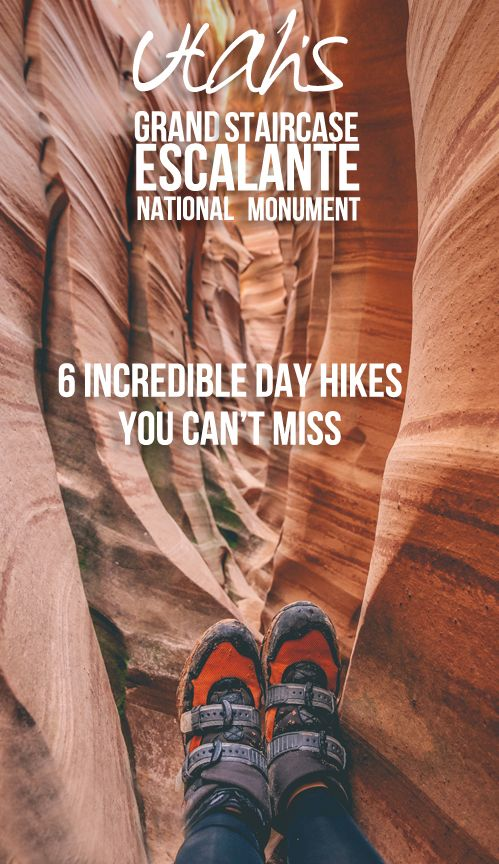 There's more to southern Utah than just Bryce Canyon! Experience premier hiking on one of these 6 incredible trails through Grand Staircase-Escalante National Monument.