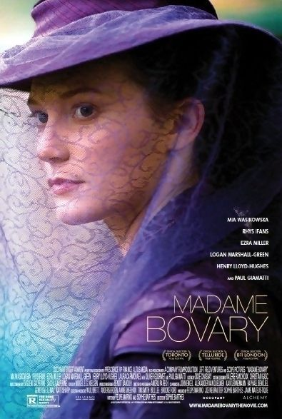 Madame Bovary is a 2014 drama film directed by Sophie Barthes and starring Mia Wasikowska, Henry Lloyd-Hughes, Paul Giamatti, and Ezra Miller. The film is based on the novel of the same name by Gustave Flaubert. Brief Synopsis: Bored in her marriage to a country doctor and stifled by life in a small town, the restless Emma Bovary pursues her dreams of passion and excitement, whatever they may cost. Madame Bovary received mixed reviews.
