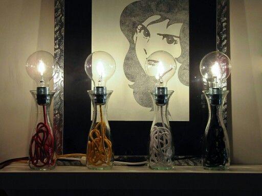 Wine Lamp, diversi colori del filo