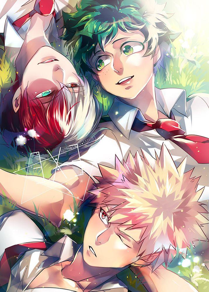 Boku no Hero Academia || Katsuki Bakugou, Todoroki Shouto, Midoriya Izuku, My hero academia #mha