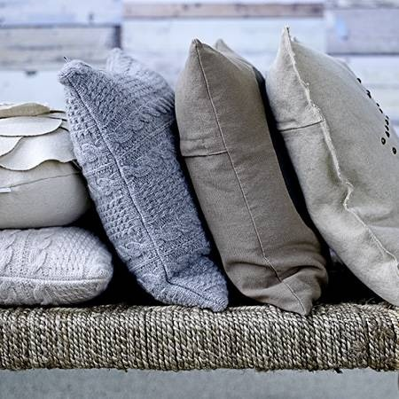 Bloomingville knitted cushions ♥: Colors Combos, Knits Cushions, Design Interiors, Colors Palettes, Earth Colors, Colors Pallette, Colors Texture Patterns, Throw Pillows, Accent Colors