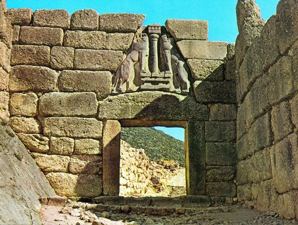Lion Gate, Mycenae, c1300-1250 BCE