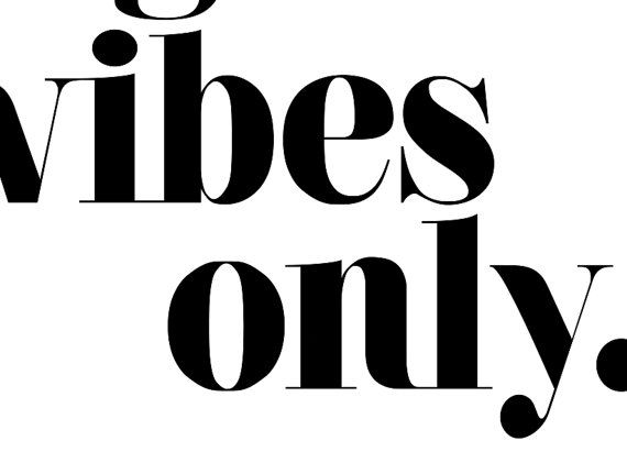 Good Vibes Only Quote Typography Art Print by chloevaux on Etsy