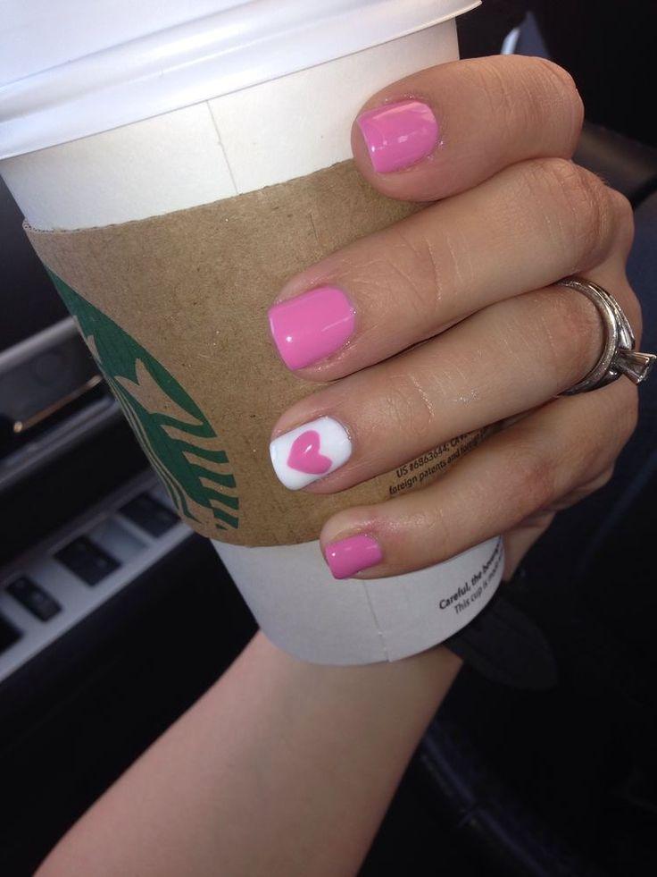 ❤Cute nail art design idea | Valentines Day Nail | short nails |  Art #nails #nailart #Valentinesday