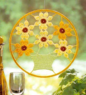Mandala Colgante de Crochet - Patrones Crochet