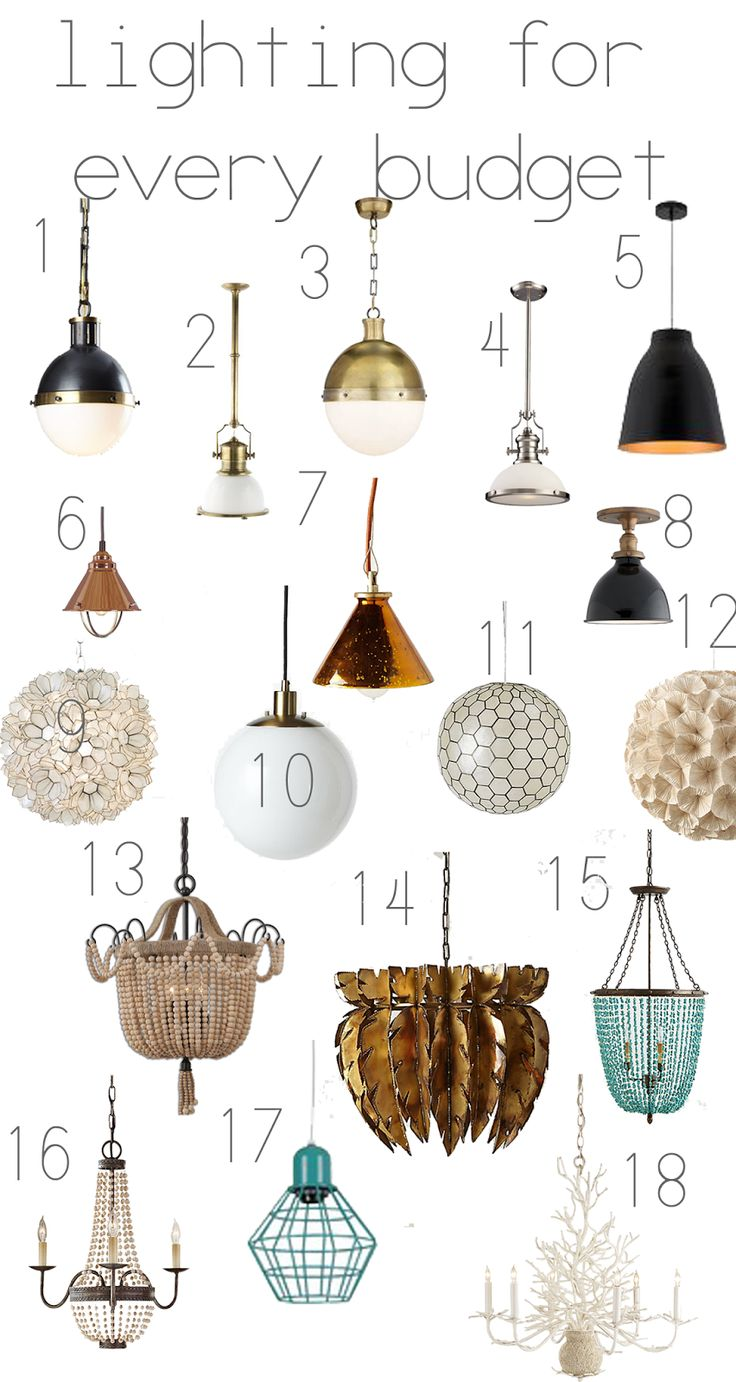 sarah tucker : lighting for every budget - includes good sources for reasonably priced lights