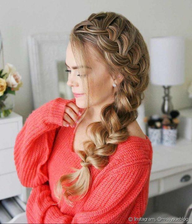 Fotos de trança: confira os tipos que são tendência para os penteados de festa   Penteados com trança, Penteados estilosos, Penteados