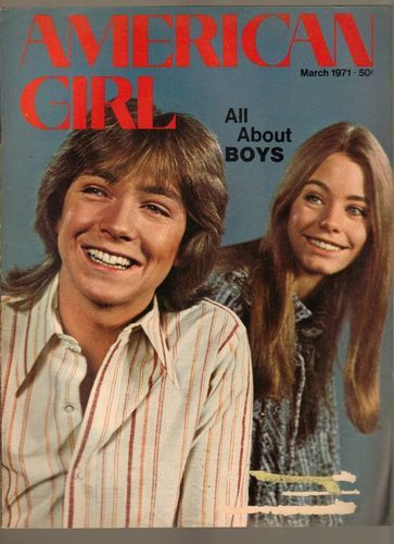 American Girl Magazine March 1971 - Ahhh, the Partridge Family.  Such fun to watch.  Oh David, you were a cutie.  @A Lifetime Legacy
