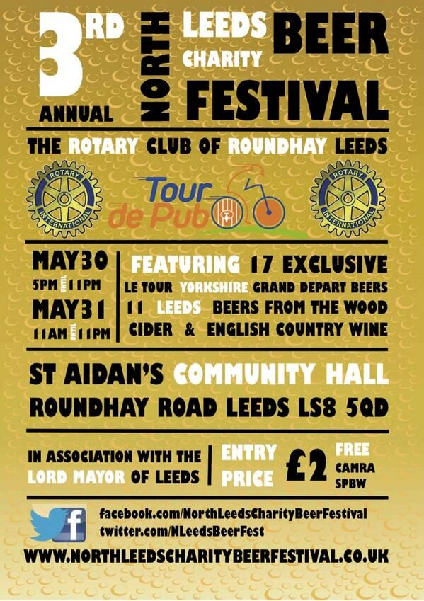 Upcoming event - North Leeds Charity Beer Festival