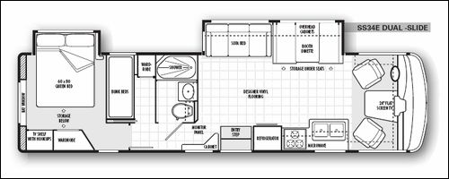 2 bedroom motorhome 17 best images about rv wagon tiny home floor plans on 10016