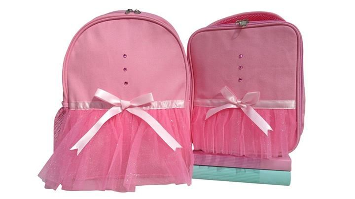 Ballet Tutu Back pack and lunch bag from www.gigglemepink.com.au