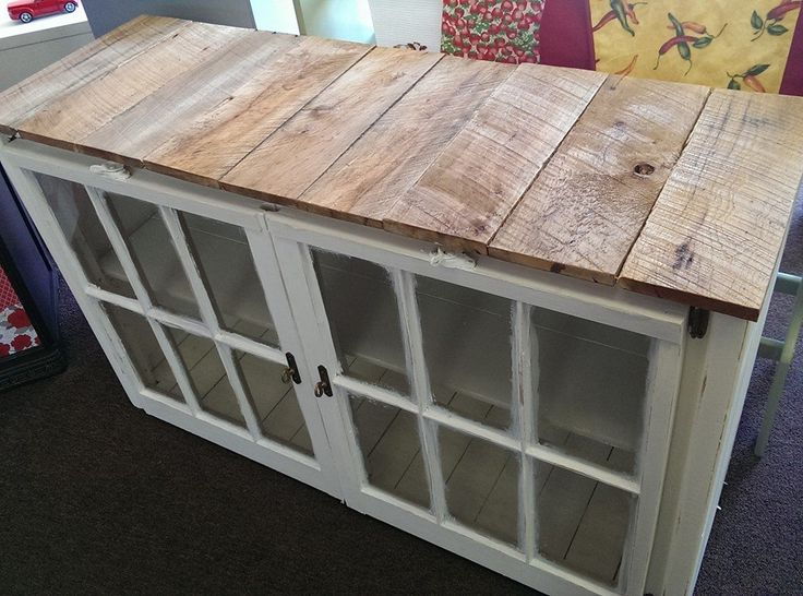 old windows - pallet wood - original window locks - rustic furniture - hand made - old dresser - TV Cabinet  www.facebook.com/thechatterboxchester