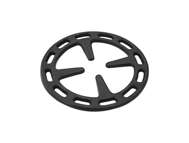 """Simmer ring suitable for all ranges, with 4"""" 23/32 of radius. Finishing, cast iron"""