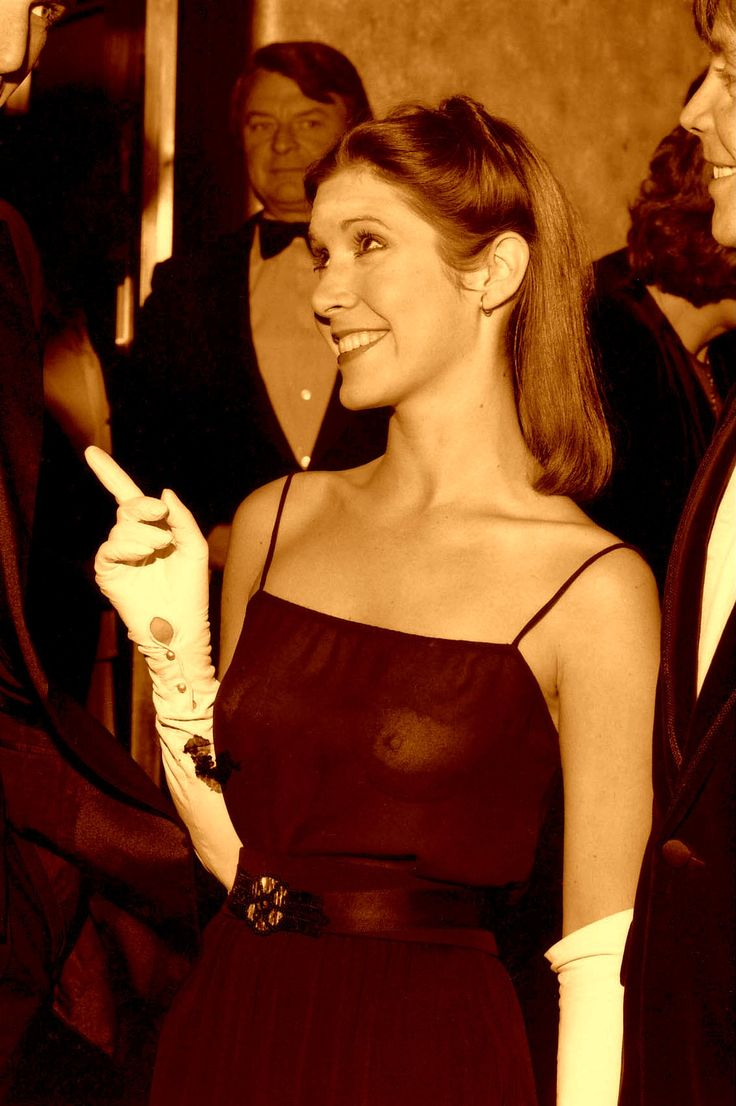 That smile! The beautiful Carrie Fisher