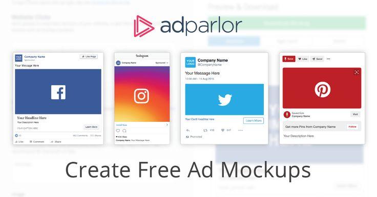 Ad Mockup Generator Adparlor Social Media Mockup Mockup Template Free Instagram Mockup