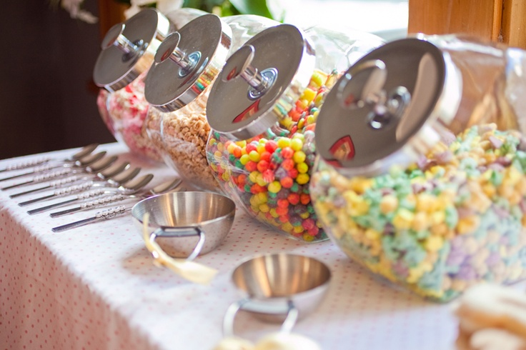 Cereal Party Food, this site has cute kids party ideas