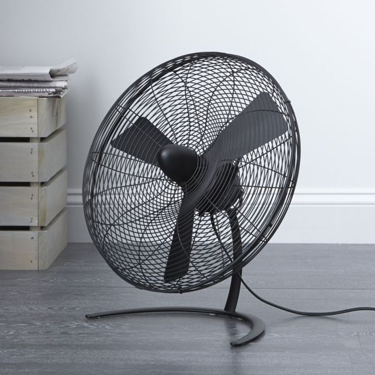 Electric Floor Fans : Charley black quot floor fan crate and barrel interior