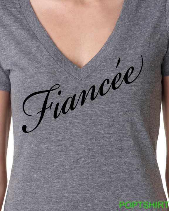 Fiancee Shirt, Wifey Shirt, Fiancee V-neck, Fiancee Top, Mrs. Bride To Be, Bridal Shower Gift, Bride Shirt, Bachlorette Gift, Faincee Gift by PopTshirt on Etsy