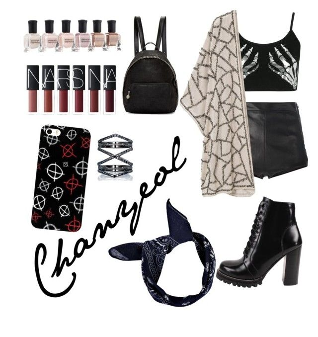 """EXO Chanyeol"" by desirahmaningsh on Polyvore featuring Boohoo, La Perla, Violeta by Mango, Jeffrey Campbell, STELLA McCARTNEY, Deborah Lippmann and Eva Fehren"