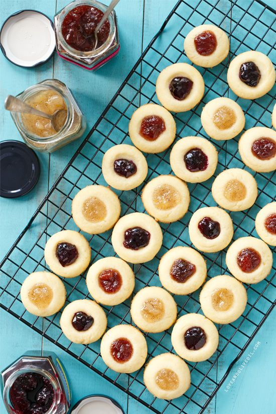 This Christmas, stick to tradition with this recipe for jam-filled thumbprint cookies.