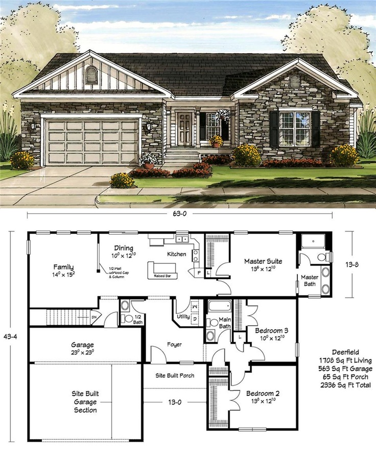 1700 square feet never looked so good ranch floor planshouse - Deefield Park Homes Floor Plans