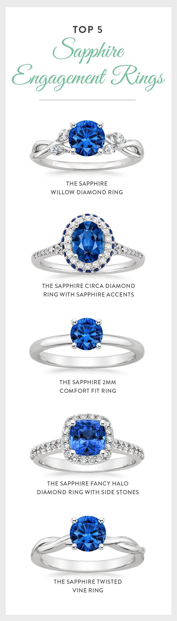Do you love the beauty of sapphires in vibrant hues? Discover your own unique sapphire style now! anillos de compromiso | alianzas de boda | anillos de compromiso baratos http://amzn.to/297uk4t