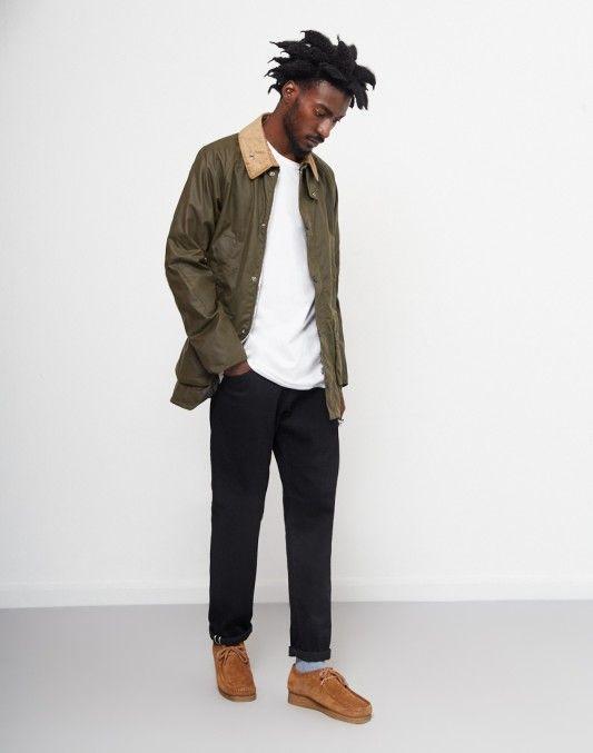 Barbour Bedale Wax Jacket Green