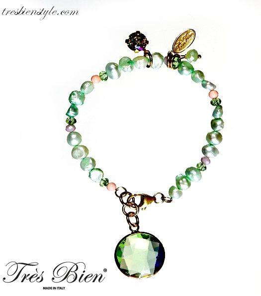 #Bracciale #Perle #Pasta di Corallo #Cristalli #Fashion #MadeinItaly #fattiamano
