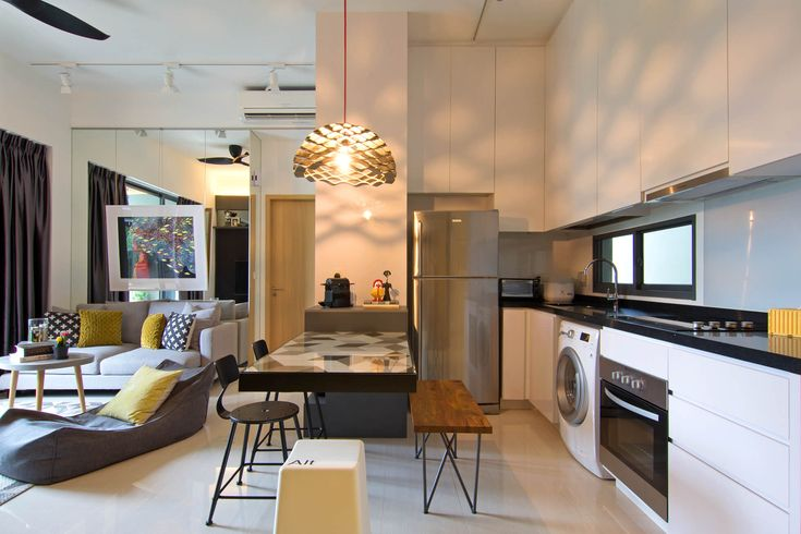 International Flair at Home in this Stylish Singapore Apartment - http://freshome.com/stylish-singapore-apartment/