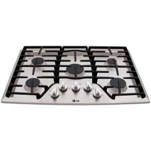 LG Electronics 30 in. Recessed Gas Cooktop in Stainless Steel with 5 Burners including 17K SuperBoil Burner-LCG3011ST at The Home Depot