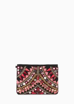 Clutch bordados étnico - Mujer | MNG
