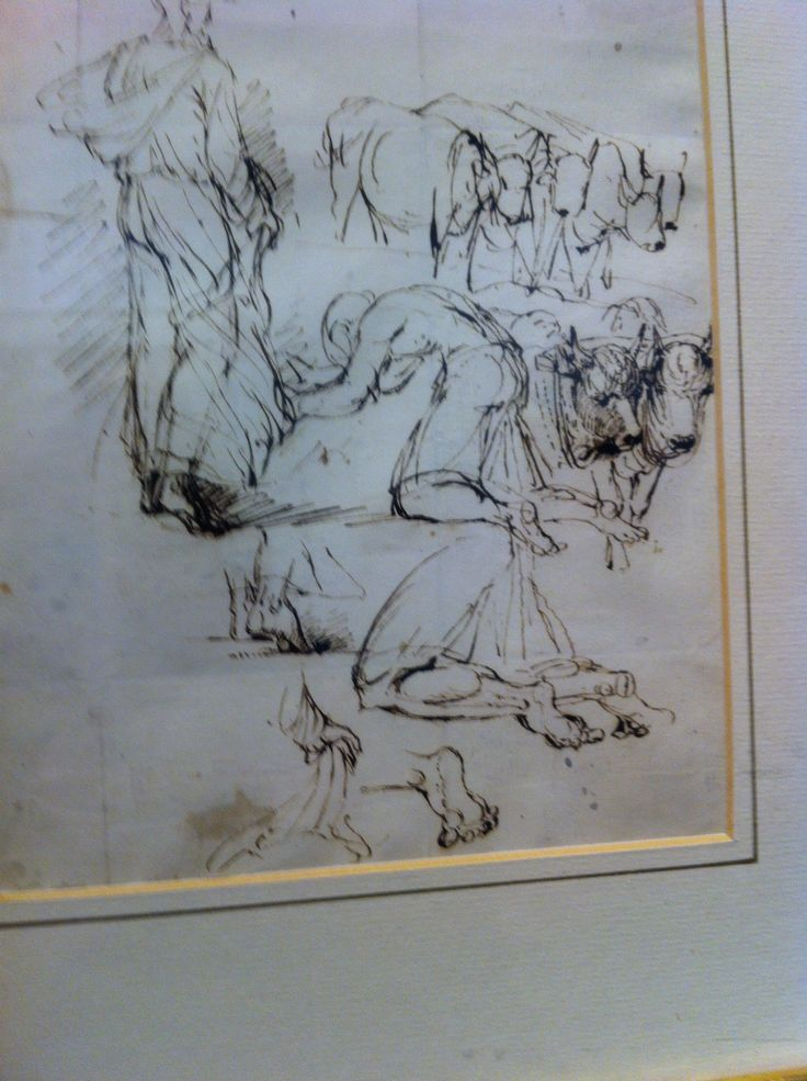 'Study for Elijah'   Peter DeWint  Brown ink The Usher Gallery