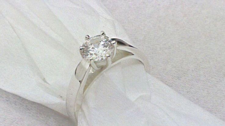 1carat diamond in platinum engagement ring  steinerjewellery.com