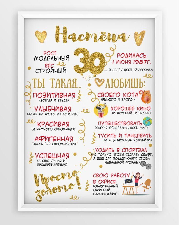 Постер подруге на День рождения