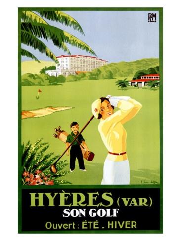Vintage Travel Poster - France - Hyeres