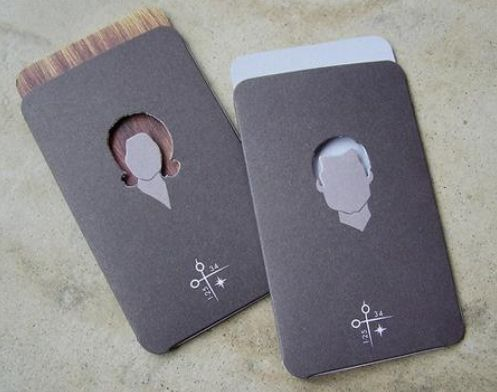Check Out This Slick Looking Salon Business Card Pst